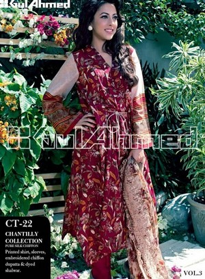 Gul Ahmed Lawn Vol 3 | Gul Ahmed Summer Lawn Magazine 2013 - Clothing9 ...