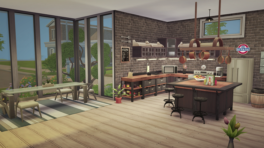 Casa oriental moderna fanatics sims 4 for Casas modernas the sims 4