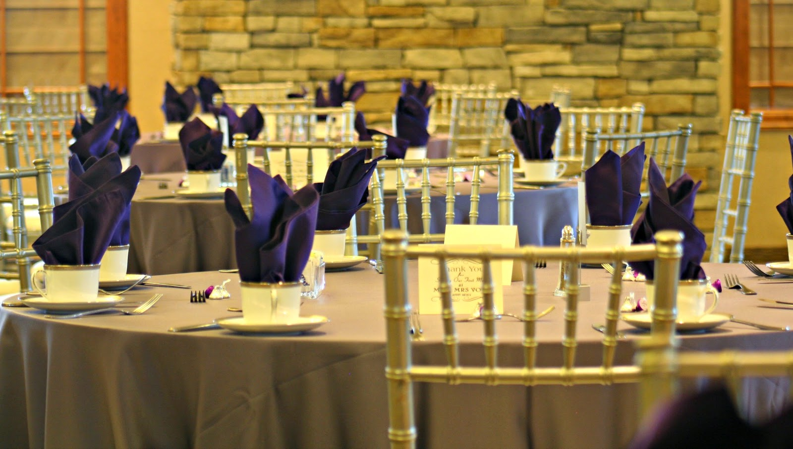 Purple Gray Wedding