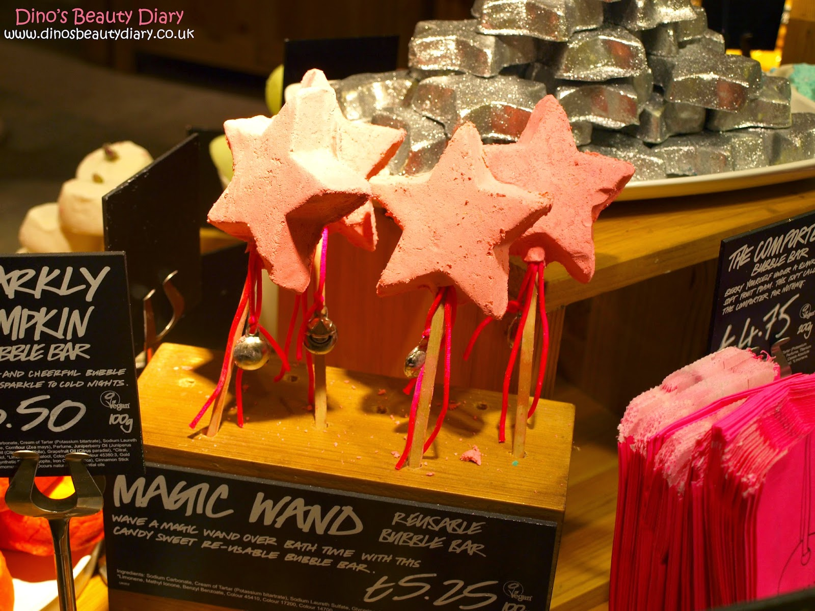 Dino's Beauty Diary - Lush Nottingham Bloggers Event - magic wand bubble bars