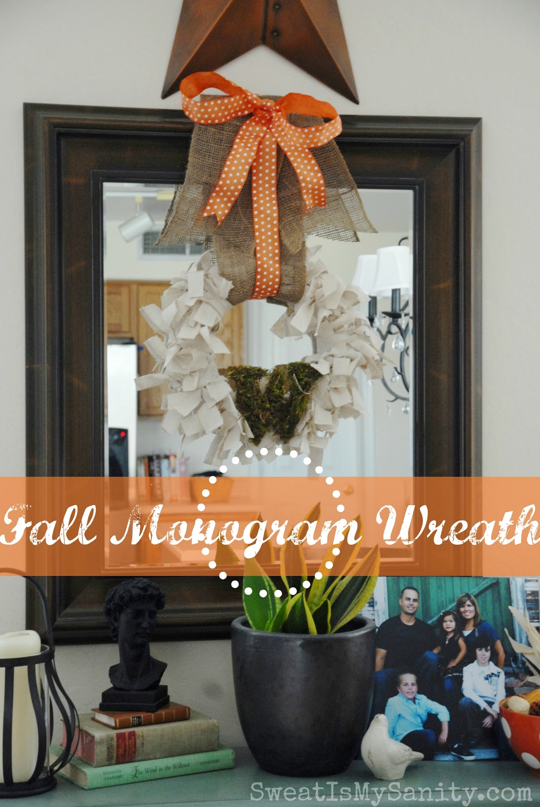 Fall Monogram Wreath Stamp