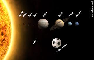 El balon del penalti de sergio ramos acaba orbitando en el sistema solar
