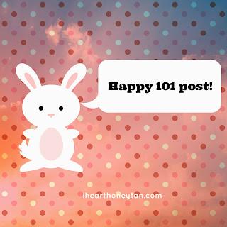 Bunny Saying Happy 101 post