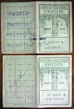 1926-TESSERA DEL FASCIO DI CAPRIATE-CRESPI D' ADDA