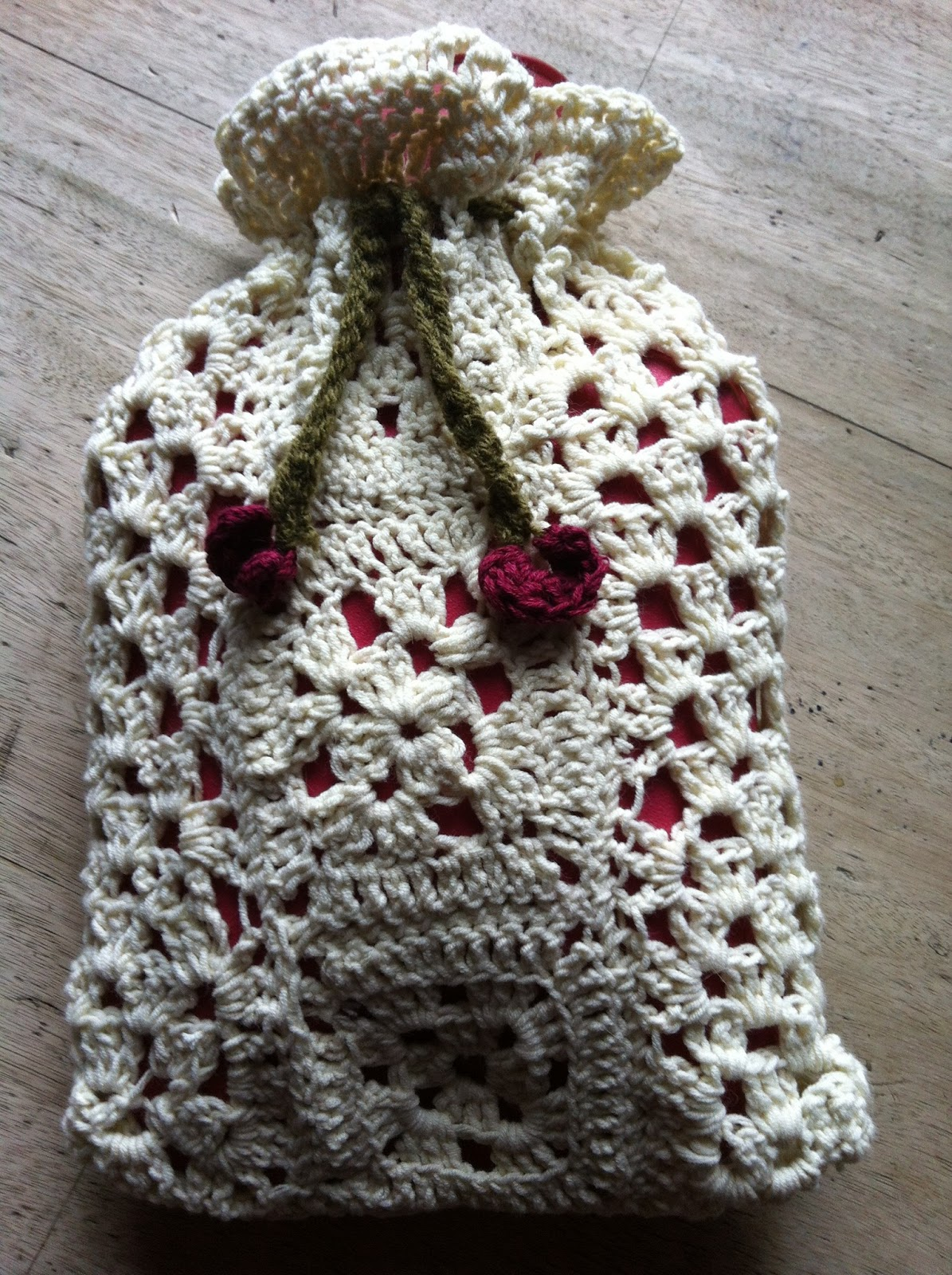 Crochet Hot Water Bottle Cover | Momma and the Bear