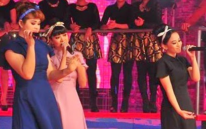 Team The Band: Tiara Ahli Tiara: Wanie Ooi, Ayu G, Shenty Lagu tiara Mimpi, konsert the band minggu 5