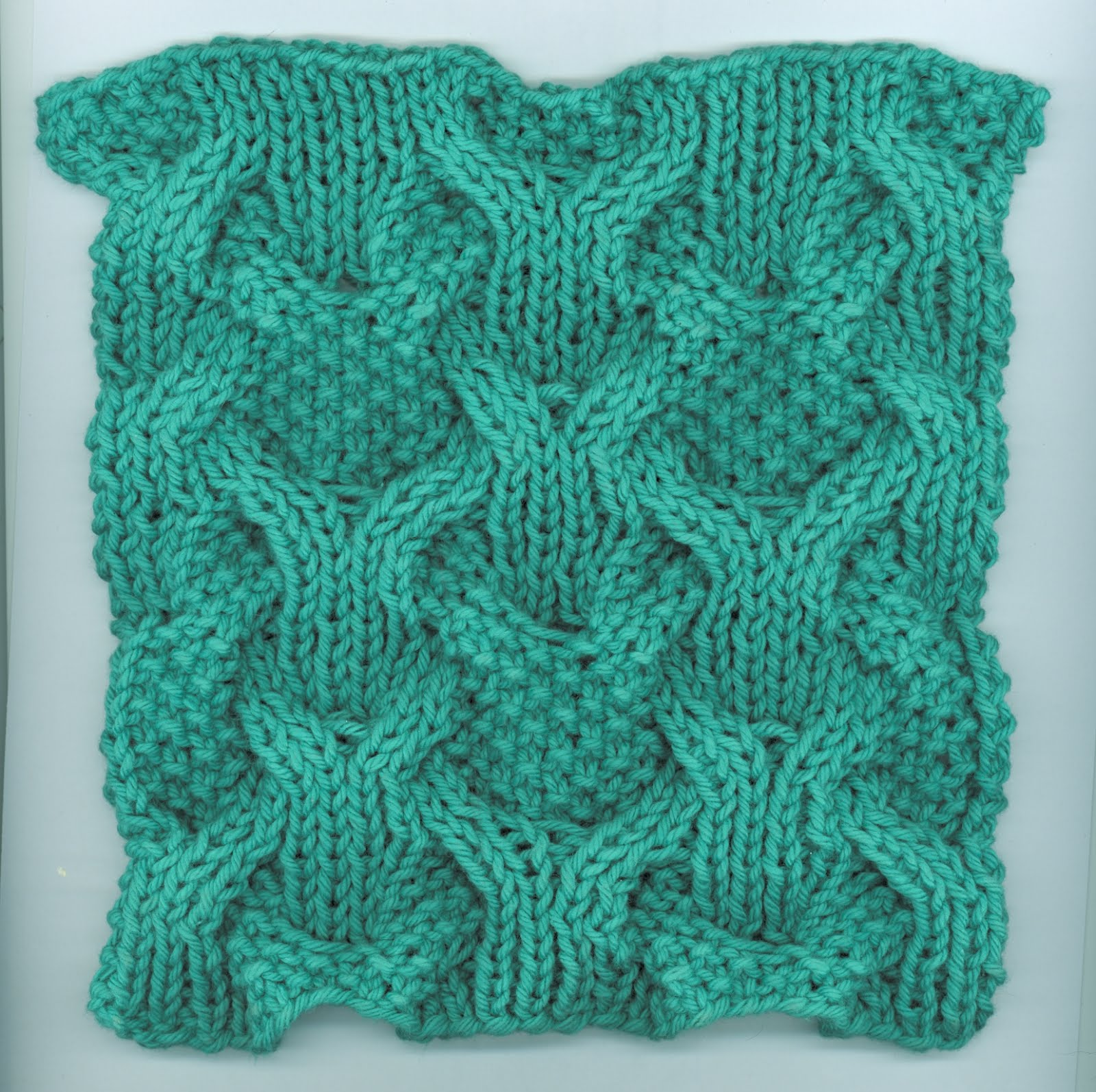 Reversible Knitting Stitches Cables : Saras Colorwave Blog: REVERSIBLY CABLED DISHCLOTH