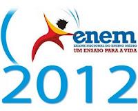 Gabarito para correção Enem 2012: Prova azul, Amarela, Rosa e Branca