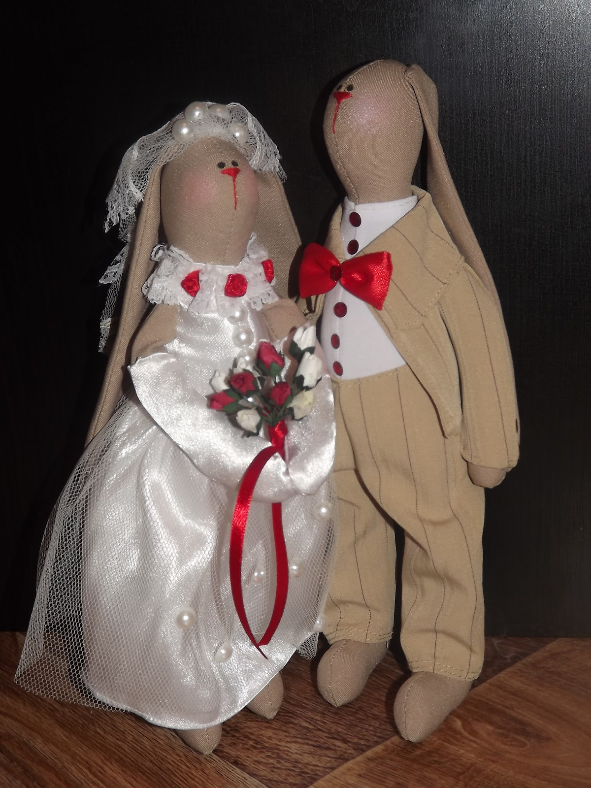 Свадебные зайчики своими руками сшить 34