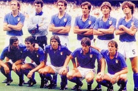 Seleção Itália tricampeão mundial copa do mundo 1982