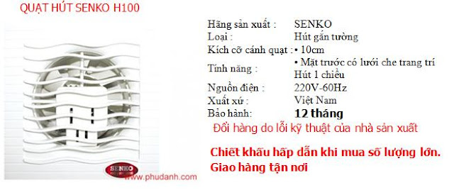 quat hut senko H100