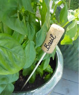 Vegetable garden label cork