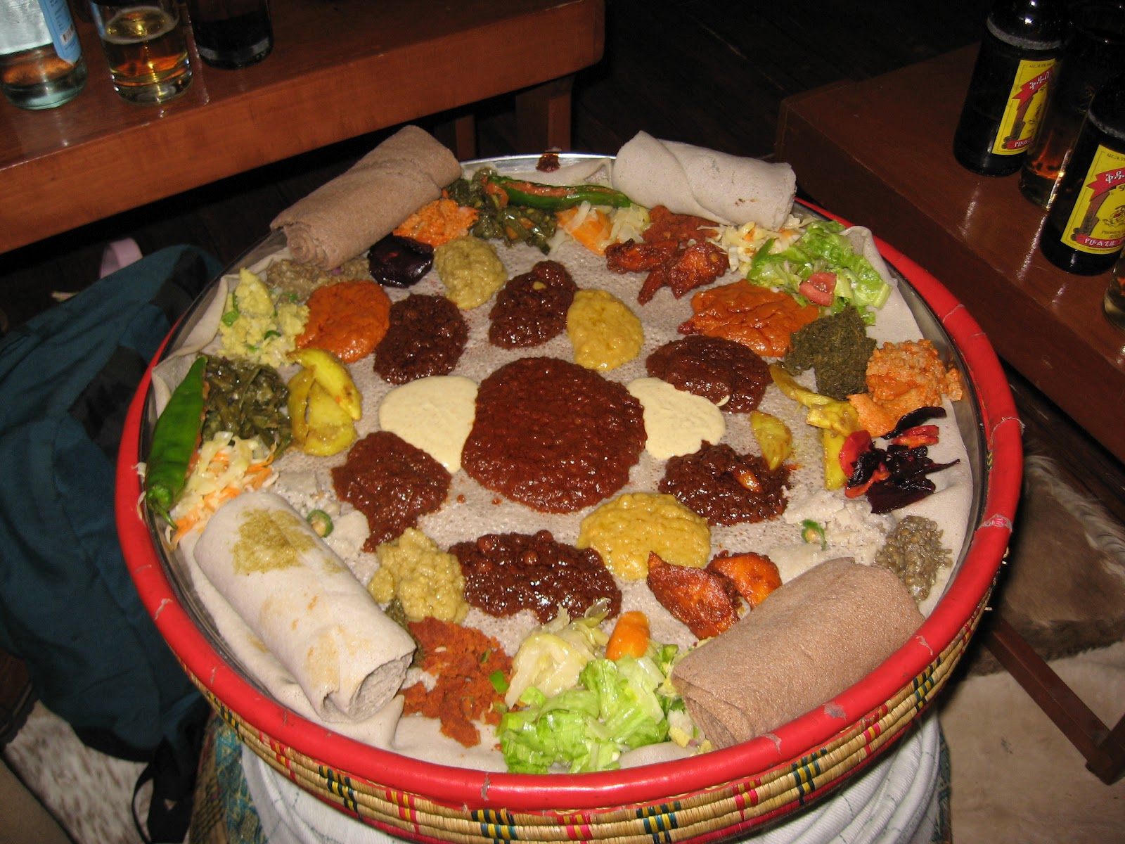ethiopian food how to make injera using teff only