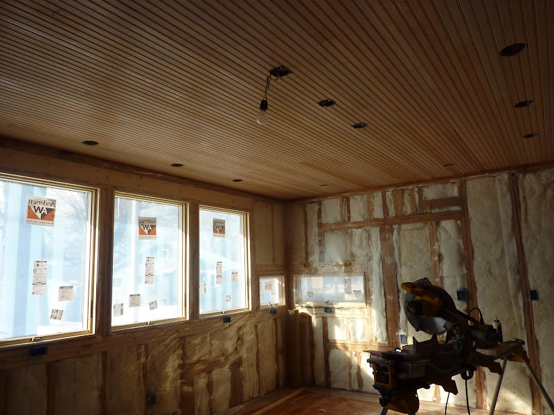Moving into the interior, we see large windows and wall insulation  title=