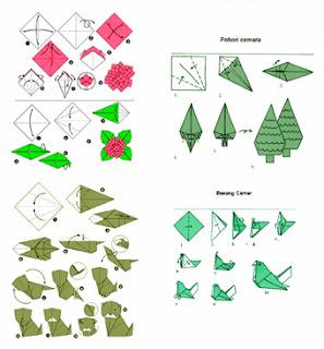 kerajinan tangan anak : cara membuat origami keren berbagai bentuk dan