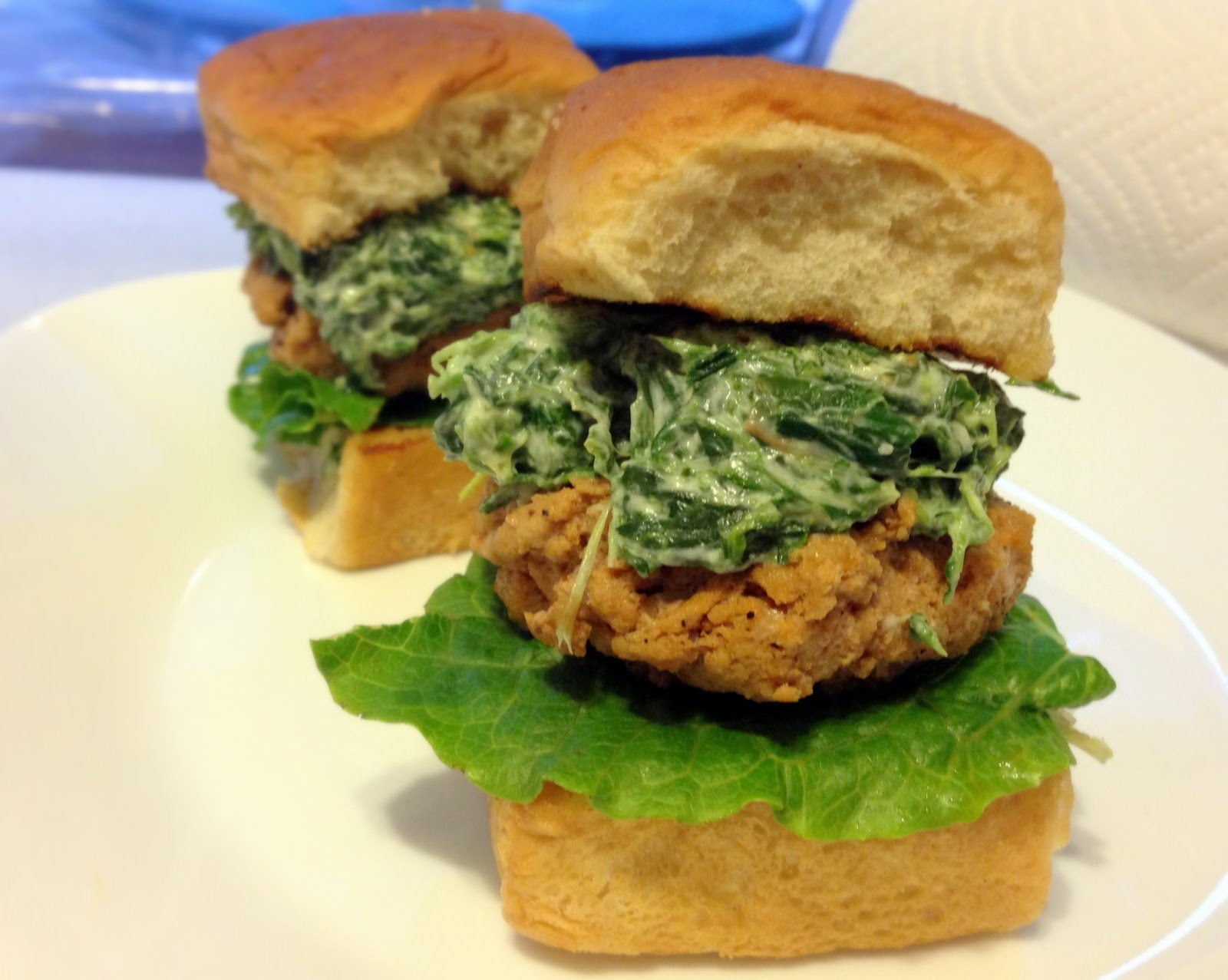 Attack of the Hungry Monster: WIAW: Spinach Dip Buffalo Turkey Sliders