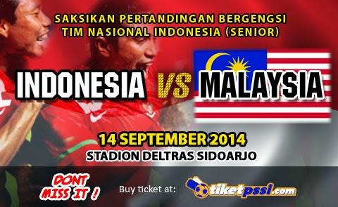 Timnas Indonesia Senior vs Malaysia 2014