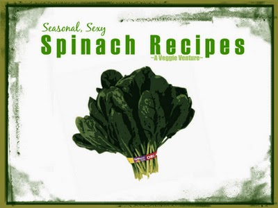 Tired of the same-old spinach? Find new inspiration in this collection of seasonal (and dare I say, sexy?) Spinach Recipes from A Veggie Venture, savory to sweet, salads to sides, soups to supper, sandwiches to smoothies, simple to special. Many Weight Watchers, vegan, gluten-free, low-carb, paleo, whole30 recipes.