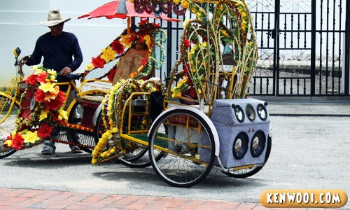 malacca bicycle rickshaw
