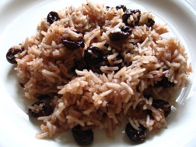 Turkish Sour Cherry Pilaf