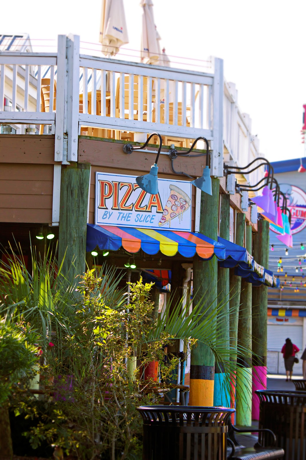 pizza slices on the boardwalk