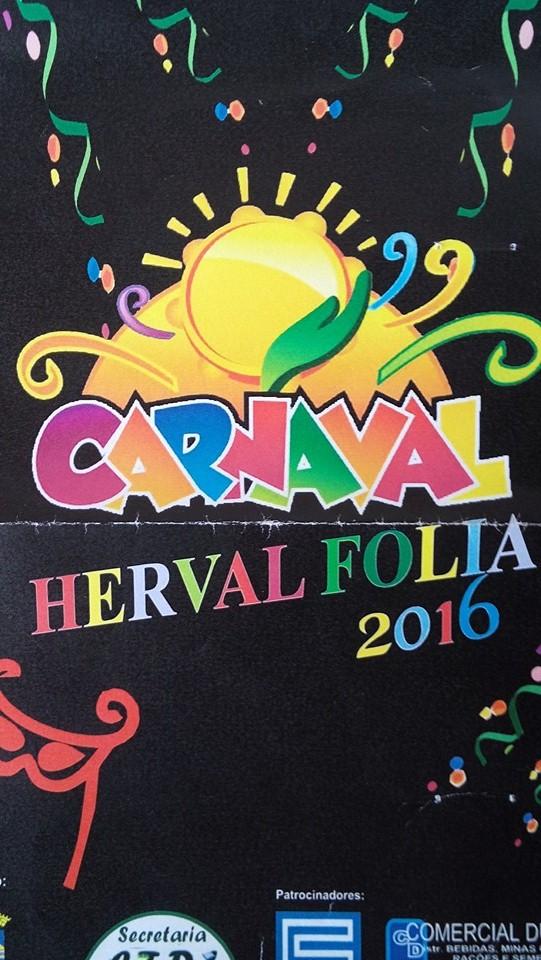 HERVAL FOLIA 2016, PROGRAMAÇÃO.