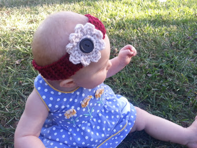 Pattern: Crochet Flower Headband with 3 Different Types of