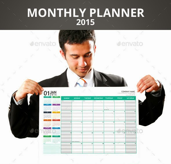 Monthly Planner 2015 + A3 Poster