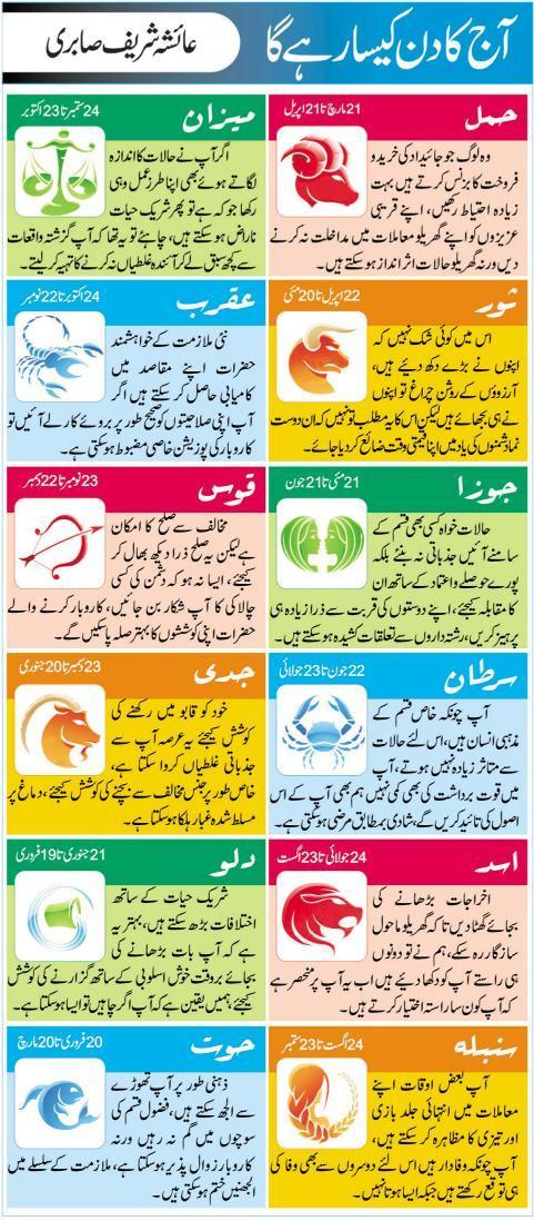 Daily Horoscope 21 OCT 2015 Today In Urdu Online