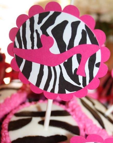 JustBeccuz Fashion Diva Birthday Party Pink Zebra