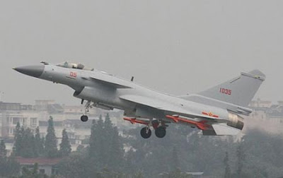 J-10B Fighter Jet Takes Off