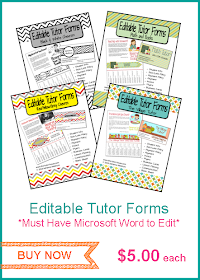Editable Tutor Forms!