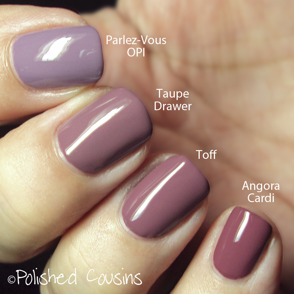 Polished Cousins: Purple Comparisons