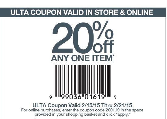 Coupon codes for ulta