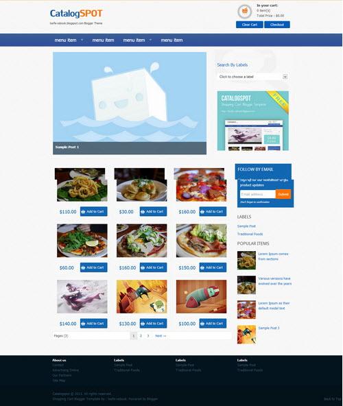 Catalog e-commerce Grid template