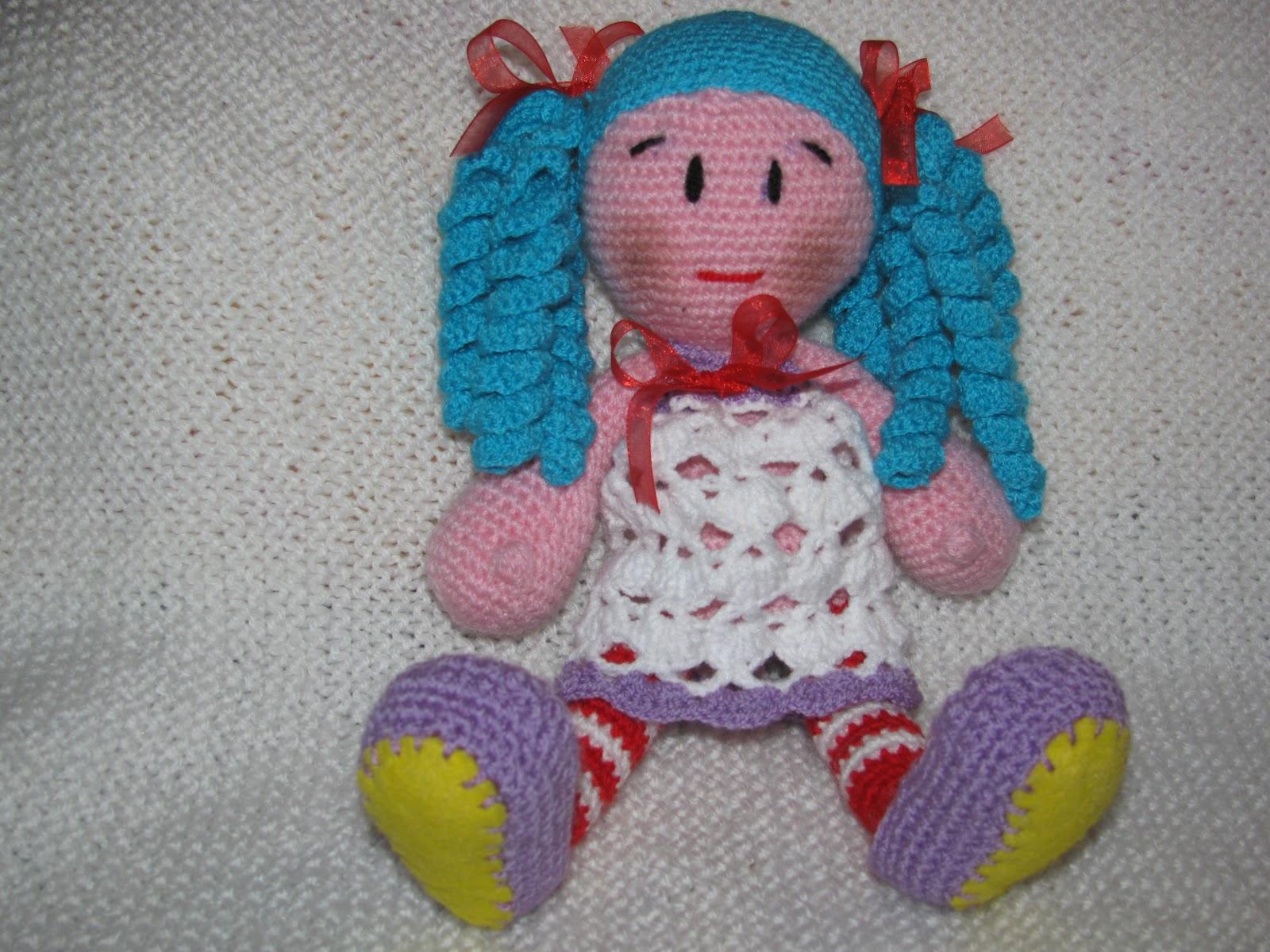 Вязание игрушек крючком кукол 26