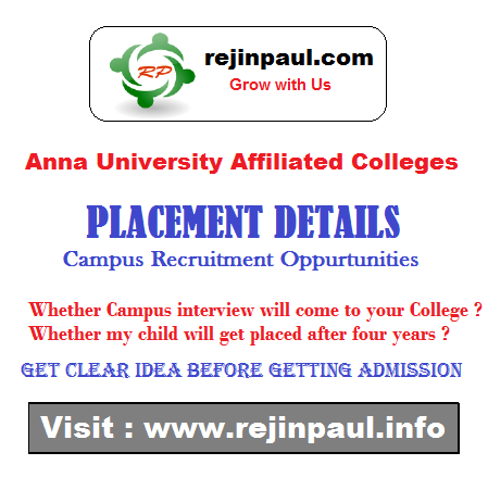Anna University Affiliated Colleges Placement Details - Check ...