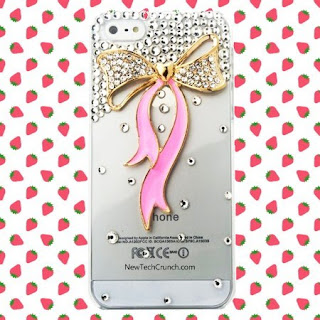 3D Bow Best Transparent iPhone 5 Case for Girls