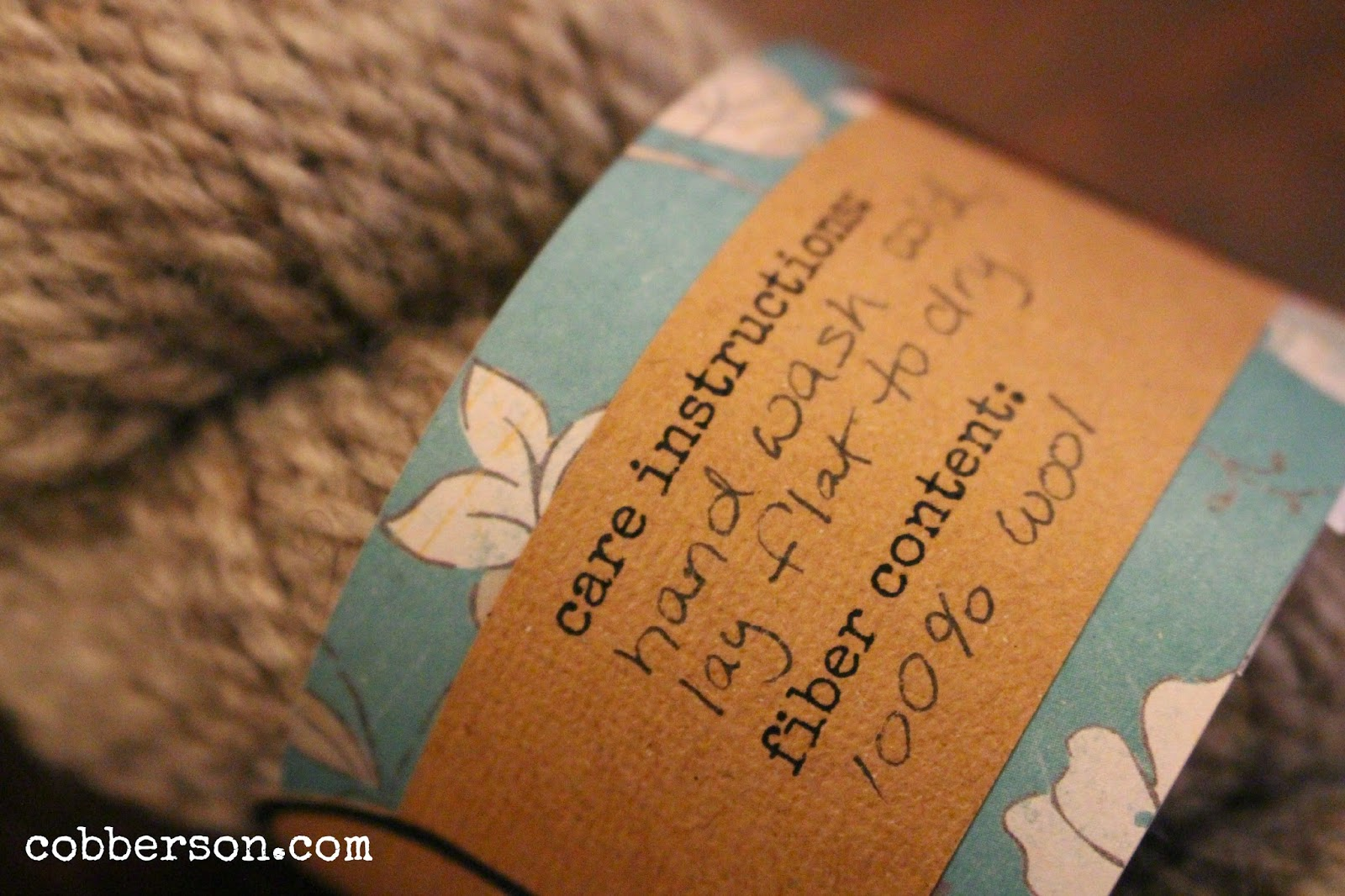 Cobberson & Co. Handspun with love free printable gift tag