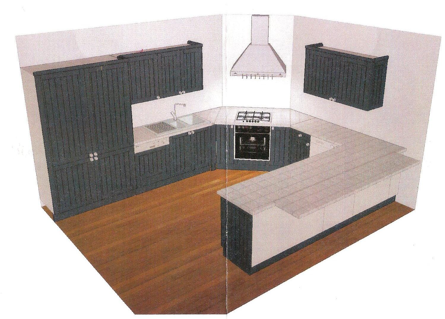 L 39 ile aux creations modele de cuisine londres for Plan de cuisine ouverte sur salle a manger