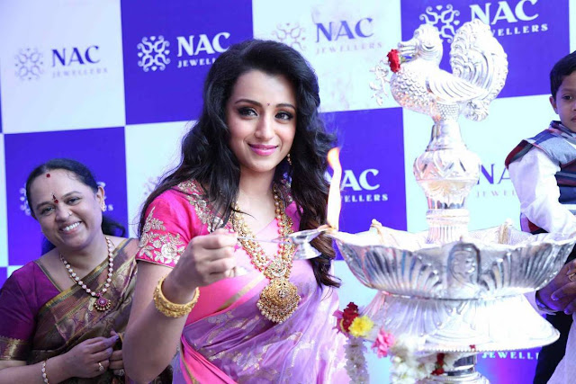 Trisha Latest Stills At NAC Jewellers Launch