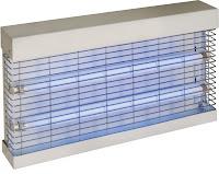Capcana electrica pentru insecte, cutie din metal cu suport pentru perete, doua becuri de 15W, placa adeziva la capat pentru a prinde insectele lungime de aprox. 300mm , placa adeziva inclusa 475x65x(H)300 mm 33 W 230 V