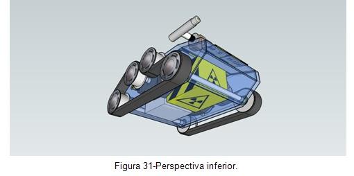 Perspectiva inferior - Veículo movido por esteiras Orbital