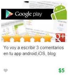 Comentarios y valoraciones para aplicaciones móviles