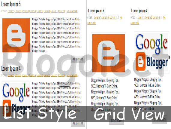 How to Change Your Blogger Posts List to Grid View | Blogolect