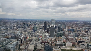 The view from floor 72 at the shard - London