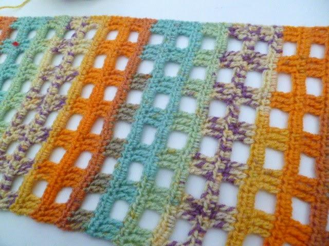 Open Mesh scarf pattern