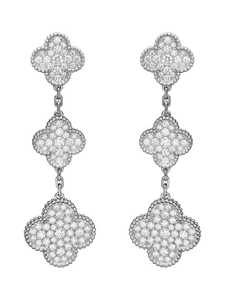 Van Cleef Arpels Magic Alhambra Diamond Earrings