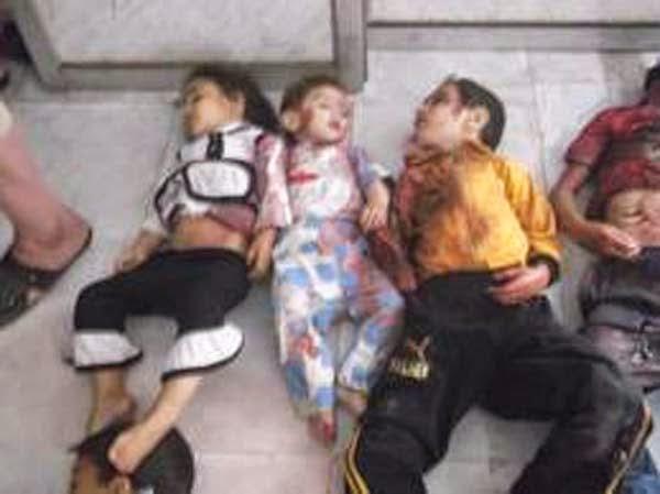anak-anak korban pembantaian di palestina
