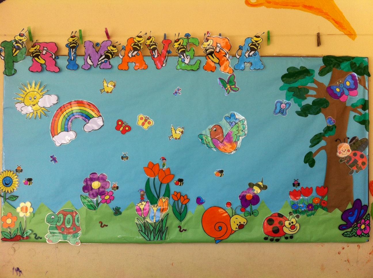 Blog de infantil murales sobre estaciones del a o for Como pintar un mural infantil